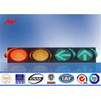 China Windproof High Way 4m Steel Traffic Light Signals With Post Controller on sale