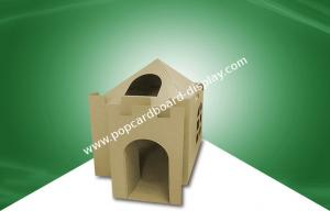 China Indoor Kids Cardboard House / Cardboard Play Houses Environment Friendly For Kids To Play on sale
