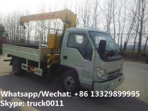 China 2019s High quality and best price FORLAND 4*2 LHD/RHD 2-3.2tons small truck with crane for sale,telescopic crane truck on sale