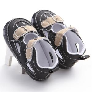 China New style infant Sandals PU Leather 0-18months Toddler baby shoes for Boy on sale