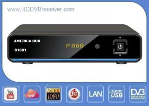 China Receptor de satélite preto da caixa S1001 DVB de América com IKS 1GHz DDR3 on sale