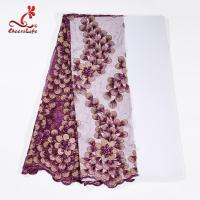 Guipure Lace Fabric African beaded Flower Lace Embroidery Fabric For Clothing