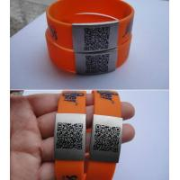 China Custom Sport ID Medical ID Bracelet with QR code on sale