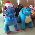 Hansel  plush electric kid riding horse toy ride on electric plush toy kids animal electrical ride