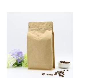 China Stand up k Pouch/Brown Kraft Paper Bag with Handle Clear Window and Zipper for Cafe on sale