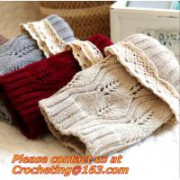 women knit boot cuffs acrylic cable pattern lace boot socks buttons leg warmers bontique
