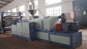 China PVC Foam Plastic Sheet Extrusion Line , PLC Control Automatic Extruder on sale