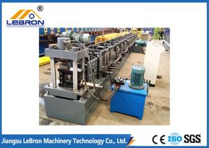 China Grey Color Metal Storage Rack Roll Forming Machine High Production Efficiency on sale