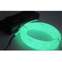 Rigid Green Color EL Lighting Wire String Light For Instrument Display AC 110 - 220V