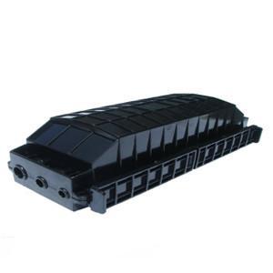 China Horizontal Black Fiber Optic Splice Closure For Ordinary Fiber And Ribbon Fiber on sale