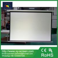 Manual Pull Down Projection Screen Wall Projector Screen for Business Education