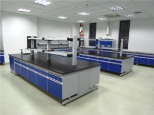 China Modern Colorful Steel Wood Lab Table Modular Laboratory Furniture on sale