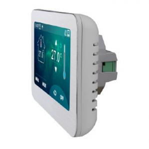 China 4.3 inch big screen color display touch screen electric heating thermostat for fan coil units 2 pipe or 4 pipe system on sale