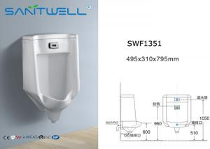China Gravity cleaning bathroom urinal  white ceramic wall hung , men at urinals on sale