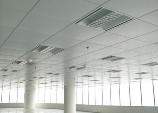 Round Hole Perforated Metal Office Ceiling Tiles , T Bar Metallic False  Ceiling