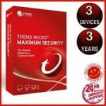 Trend Micro Maximum Security 2019 3 PCs 3 Years suit for All devices digital key only No Disc