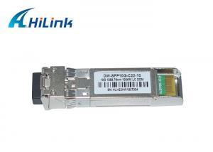 China 100km Dwdm 10g Sfp Module , Ethernet Optical Transceiver 17-61 Channels LC Connector on sale