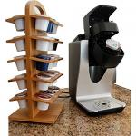 Stylish Bamboo Coffee Capsules Holder Home & Office Organization SGS Approved
