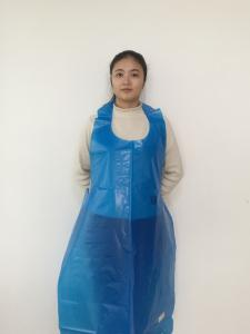 China Medical Disposable PE Apron  Plastic PE Green HDPE LDPE  Smooth  Apron On Block on sale