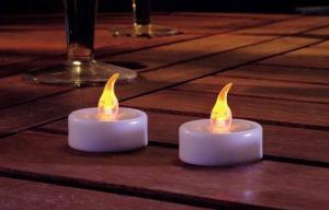 China New designed fashionable Flickering Solar Candle Light on sale