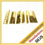 polishing surface brass extrusion profile brass floor tee