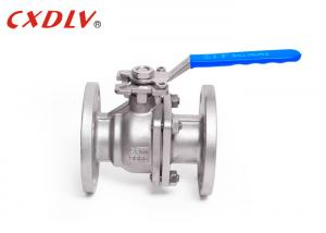 China DIN Double Flanged Ball Valve ISO5211 Pad with Handle or Actuator on sale