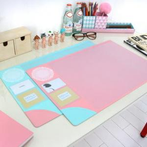 China Monogrammed Colorful Desk Protector Pad Custom Printed Table Mat on sale