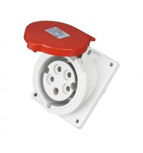 China Inclination 32 Amp Outdoor Socket?, 288g / Pc Weight Industrial Socket 32 Amp 5 Pin on sale