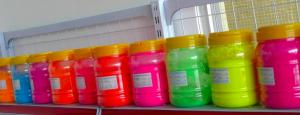 China Raw material orange-yellow color fluorescent pigment for screen printing on sale