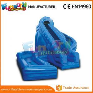 China 0.55mm PVC Tarpaulin Spiral Water Slide Corkscrew Inflatable Water Slide on sale