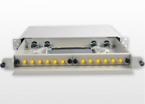 China ST / UPC Fiber Optic Cable Patch Panel , Drawer Type ODF Fiber Termination on sale