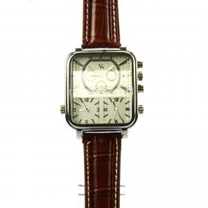 China V6 personalized watch Roman Holiday pointer table large square dial leather watch on sale
