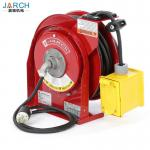 Electric Spring Driven Cord Retractable Hose Reel 45 Feet Of 12/3 Cord GFCI Dual Outlet