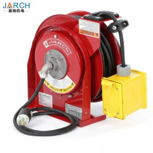 China Retractable Electric Spring Driven Cord Reel with 45-Feet of 12/3 Cord and GFCI Dual Outlet Cable Reel on sale