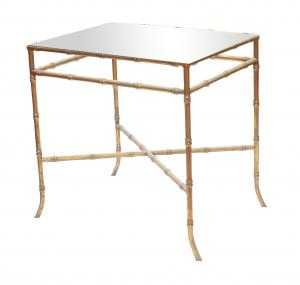 China Bamboo Iron end table side table for living room gold finish 100% handmade on sale