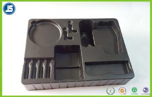 China Custom Black ESD Plastic Trays For Food Packaging , Soft PE Blister Trays on sale