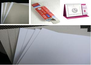 Quality Recycled Gift Box Material Grey / Gray Chipboard With One Side White 320gsm - for sale