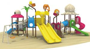 China Hot sale CE big slide colorful outdoor playground equipment on sale