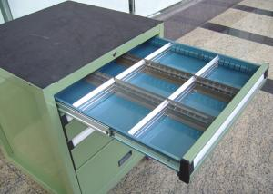 China Rolling Metal Tool Cabinet With Drawers For Storage , Workbench Tool Chest on sale