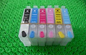 China Black Plotter T080 T0801 T0802 Refillable Printer Ink Cartridges for Desktop Epson R265 on sale