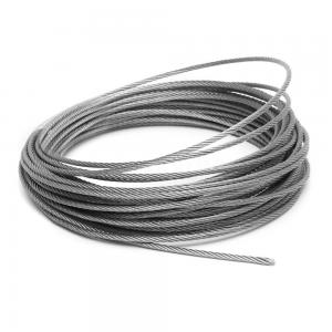 China 6mm SS 304 Steel Wire Rope 7x37 For Crane / Bicycle Fittings / Kitchen on sale