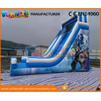 Blue PVC Tarpaulin Frozen Commercial Inflatable Slide Inflatable Dry Slide for Kids