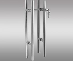 China Double Lock Core Glass Door Handles Duplicate Protection For Office Door on sale