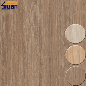 China Membrane Press PVC Decorative Foil For Cabinets And Doors , Wood Texture on sale