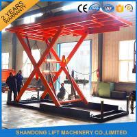 Red 5T 3.5M Electric Hydraulic Scissor Car Lift for Car Parking