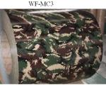 Camouflage Patterned Color Coated Steel Coil , Galvalume Steel Coil