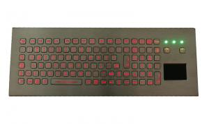 China 104 keys IP68 desktop keyboard with touchpad, with FN keys and numeric keys on sale
