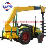 Zhengzhou bottom price tractor mounted cement pole erection machine