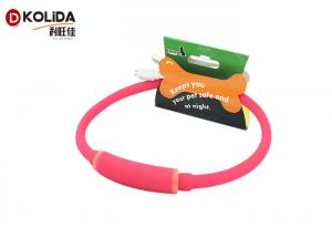 China Flashing Light Up LED Dog Necklace Rechargeable Flashing Dog Collars Pet Gift on sale