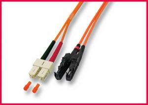 China OS2 MU to LC Zipcord Fiber Optic Patch Cable, Singlemode Yellow PVC Optic Cable on sale